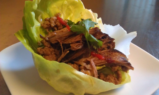 lettuce wrap with pork belly