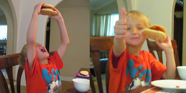 Eating Pizza Burger