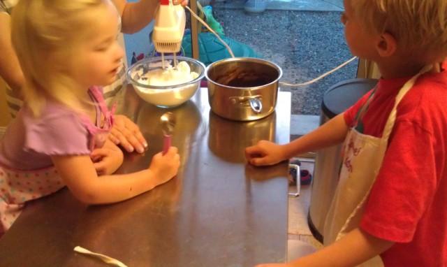 Kids baking souffle